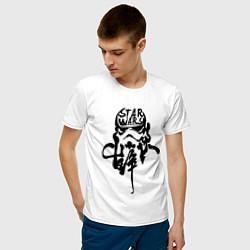 Футболка хлопковая мужская Ink Stormtrooper цвета белый — фото 2