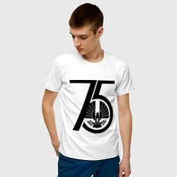 Футболка хлопковая мужская The Hunger Games 75 цвета белый — фото 2