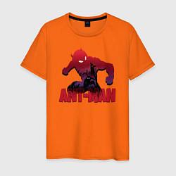 Футболка хлопковая мужская Ant-man цвета оранжевый — фото 1