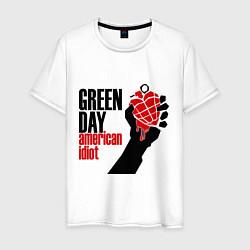 Футболка хлопковая мужская Green Day: American idiot цвета белый — фото 1