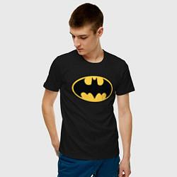 Футболка хлопковая мужская Batman цвета черный — фото 2