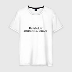Мужская хлопковая футболка с принтом Directed by Robert Weide, цвет: белый, артикул: 10199316100001 — фото 1