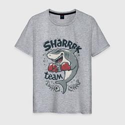 Футболка хлопковая мужская Shark Team цвета меланж — фото 1