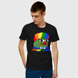 Мужская хлопковая футболка с принтом КОУН ПЕПЕ, цвет: черный, артикул: 10200532900001 — фото 2