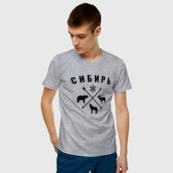 Футболка хлопковая мужская Сибирь цвета меланж — фото 2