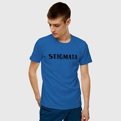 Мужская хлопковая футболка с принтом Stigmata, цвет: синий, артикул: 10203594900001 — фото 2