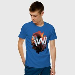 Футболка хлопковая мужская Bernard Low Westworld цвета синий — фото 2