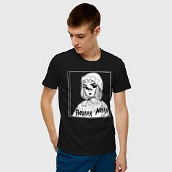 Футболка хлопковая мужская Пошлая Молли цвета черный — фото 2