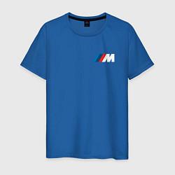 Мужская хлопковая футболка с принтом BMW M LOGO 2020, цвет: синий, артикул: 10211178300001 — фото 1