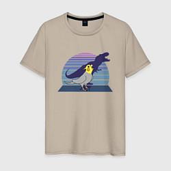 Мужская хлопковая футболка с принтом Рекс 1, цвет: миндальный, артикул: 10211387100001 — фото 1