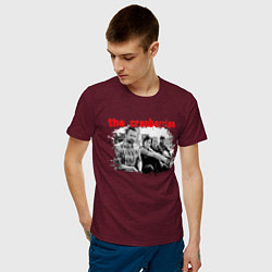 Футболка хлопковая мужская The Cranberries цвета меланж-бордовый — фото 2