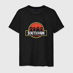 Футболка хлопковая мужская Южный парк цвета черный — фото 1