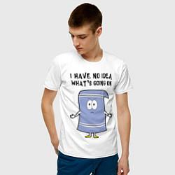 Мужская хлопковая футболка с принтом South Park, Полотенчик, цвет: белый, артикул: 10214438900001 — фото 2