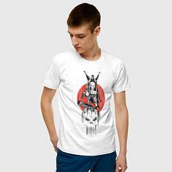 Футболка хлопковая мужская Каратель цвета белый — фото 2