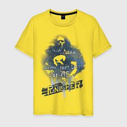 Футболка хлопковая мужская The Punisher цвета желтый — фото 1