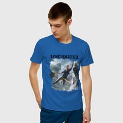 Футболка хлопковая мужская UNCHARTED цвета синий — фото 2