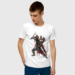 Футболка хлопковая мужская Scorpion цвета белый — фото 2