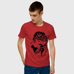 Мужская хлопковая футболка с принтом TRAVIS SCOTT, цвет: красный, артикул: 10220306300001 — фото 2