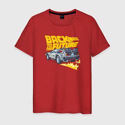 Футболка хлопковая мужская Back to the Future цвета красный — фото 1