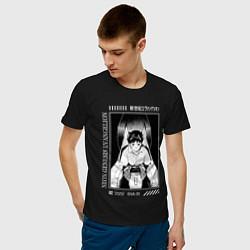 Футболка хлопковая мужская Синдзи Икари, Евангелион цвета черный — фото 2