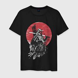 Футболка хлопковая мужская Японский самурай цвета черный — фото 1