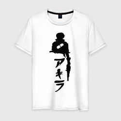 Футболка хлопковая мужская Akira цвета белый — фото 1