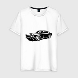 Футболка хлопковая мужская Ford Mustang Z цвета белый — фото 1