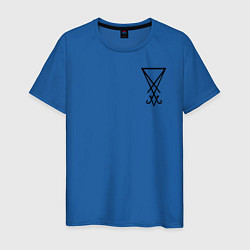 Футболка хлопковая мужская HELLTAKER цвета синий — фото 1