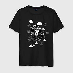 Футболка хлопковая мужская Каир Древний Египет цвета черный — фото 1