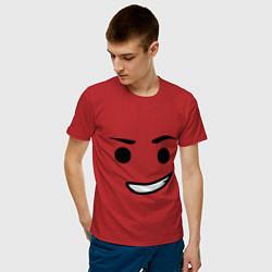 Футболка хлопковая мужская Emmet цвета красный — фото 2