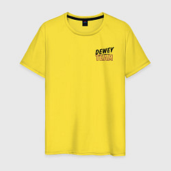 Футболка хлопковая мужская Dewey Team цвета желтый — фото 1