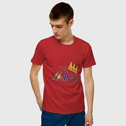 Мужская хлопковая футболка с принтом The LAnd, цвет: красный, артикул: 10274332700001 — фото 2