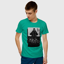 Футболка хлопковая мужская Jony цвета зеленый — фото 2