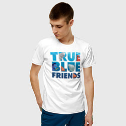 Футболка хлопковая мужская True Blue Friends цвета белый — фото 2