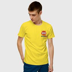 Футболка хлопковая мужская Baymax цвета желтый — фото 2