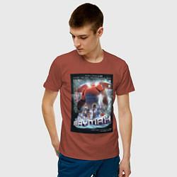Футболка хлопковая мужская Бэймакс Город Героев 6 цвета кирпичный — фото 2