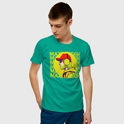 Футболка хлопковая мужская Max Barskih цвета зеленый — фото 2