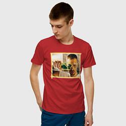 Футболка хлопковая мужская Max Barskih цвета красный — фото 2