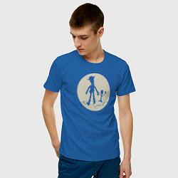 Футболка хлопковая мужская Вуди и Форки цвета синий — фото 2