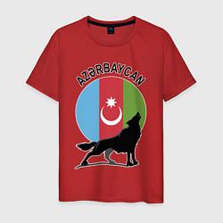 Футболка хлопковая мужская Азербайджан цвета красный — фото 1
