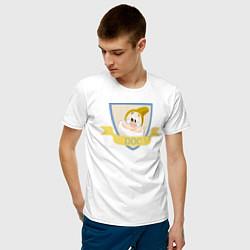 Футболка хлопковая мужская Умник цвета белый — фото 2