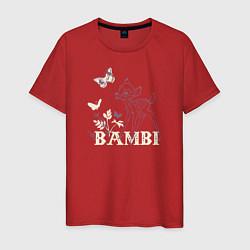 Футболка хлопковая мужская Bambi цвета красный — фото 1