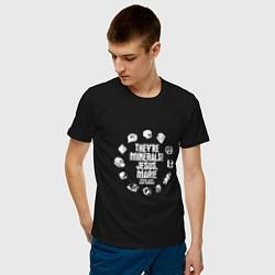 Футболка хлопковая мужская Это минералы! цвета черный — фото 2