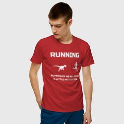 Мужская хлопковая футболка с принтом Небольшая мотивация, цвет: красный, артикул: 10281067700001 — фото 2
