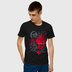 Футболка хлопковая мужская Samurai 77 V 2 цвета черный — фото 2