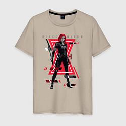 Футболка хлопковая мужская Black Widow цвета миндальный — фото 1