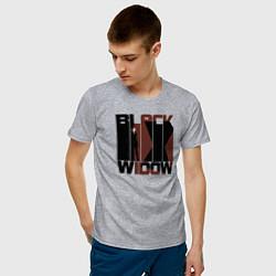 Футболка хлопковая мужская Black Widow цвета меланж — фото 2
