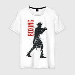 Футболка хлопковая мужская Боксер цвета белый — фото 1