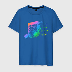 Футболка хлопковая мужская I LOVE MUSIC DJ Z цвета синий — фото 1