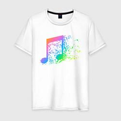 Футболка хлопковая мужская I LOVE MUSIC DJ Z цвета белый — фото 1